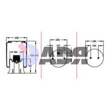 FIRESTONE W01M587315 - FUELLE COMPLETO IVECO 1T15AA6