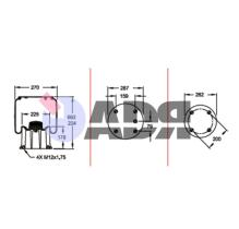 FIRESTONE W01M587358 - FUELLE COMPLETO SCANIA 1T15M9