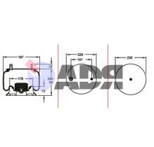 FIRESTONE W01M588473 - FUELLE COMPLETO