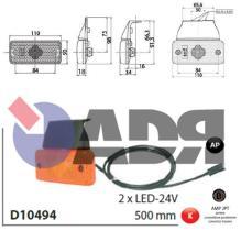 VIGNAL D10494 - GALIBO LATERAL TRAILER 2 LEDS