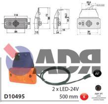 VIGNAL D10495 - GALIBO LATERAL TRAILER 2 LEDS