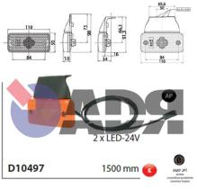 VIGNAL D10497 - GALIBO LATERAL TRAILER 2 LEDS LG:500 MM