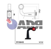 VIGNAL D10643 - PILOTO GALIBO TRAILER