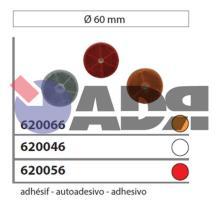VIGNAL 620066 - REFLECTANTE NARANJA ADHESIVO Ø60