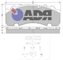 ADR TRAILER 10182960 - KIT PASTILLAS ADR BPW SB4309T