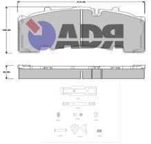 ADR TRAILER 10182970 - KIT PASTILLAS SB4345 TANGENCIAL