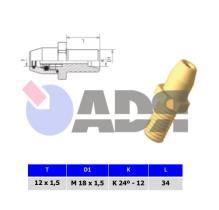 RAUFOSS 6237385 - CONECTOR MACHO M14X1,5 - T12X1,5