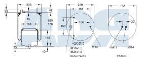 FIRESTONE W01M588545 - BPW TYPE 30 HEAVY DUTY STEEL - OFFSET MOUNTING OR TIPPERS