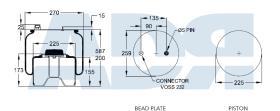 FIRESTONE W01M586095 - FUELLE CPLTO. 1T17 Q SERIES DAF XF (FTG AXLE)